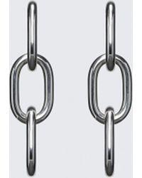 Alexander Wang | Pierced Three Link Earrings | Lyst