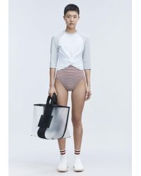 T By Alexander Wang - Twist Front Top - Lyst
