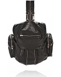 Alexander Wang - Marti Backpack In Washed Black With Rose Gold - Lyst