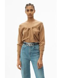 Alexander Wang - Draped Neck Pullover - Lyst