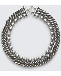 Alexander Wang | Ball Chain Stacked Necklace | Lyst
