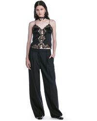 Alexander Wang Exotic Dancer Single Pleat Wool Pants - Black