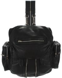 Alexander Wang - Marti Backpack In Washed Black With Rhodium - Lyst