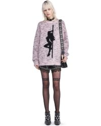 Alexander Wang - Oversized Sweatshirt With Jacquard Girl - Lyst