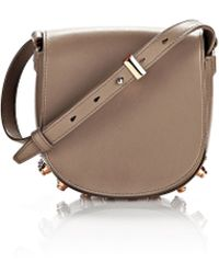 Alexander Wang Mini Lia Leather Satchel - Brown
