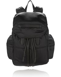 Alexander Wang - Marti In Black Satin With Matte Black - Lyst