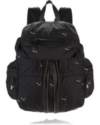 Alexander Wang - Marti Backpack In Black Nylon With Cigarette Embriodery - Lyst