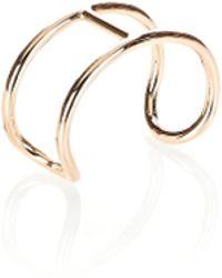 Alexander Wang Pill Cuff Bracelet In Rose Gold - Metallic