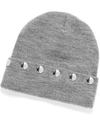T By Alexander Wang - Cashwool Jersey Beanie With Snaps - Lyst