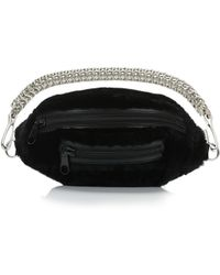 Alexander Wang - Shearling Fanny Pack With Boxchain Strap - Lyst
