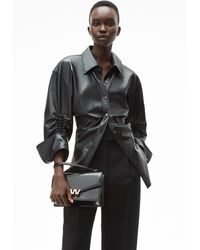 Alexander Wang Cinched Button Down - Black