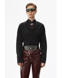Alexander Wang Jacquard Pyjama Shirt - Black
