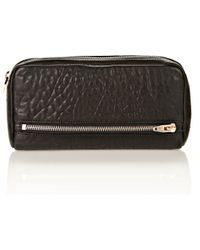 Alexander Wang - Fumo Continental Wallet In Black Pebble Leather - Lyst