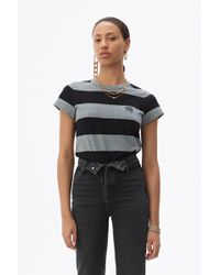 Alexander Wang Wash + Go Striped T-shirt - Black