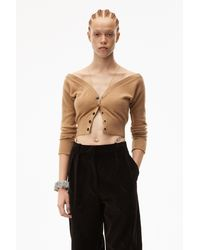 Alexander Wang Fitted Cropped Cardigan - Black