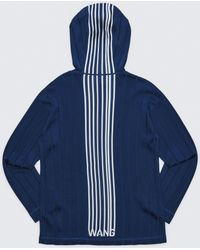 Alexander Wang Exclusive Hoodie Pullover With Barcode Logo - Blue