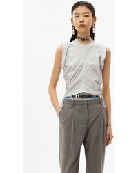 Alexander Wang Wash + Go Side Tie Crop Top - Gray