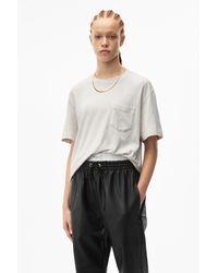 Alexander Wang High Twist Pocket T-shirt - Grey