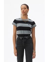 Alexander Wang Wash + Go Striped T-shirt - Black