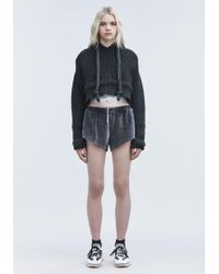 T By Alexander Wang | Velour Gym Shorts | Lyst