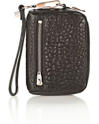 Alexander Wang | Large Fumo In Pebbled Black With Rose Gold | Lyst