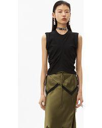 Alexander Wang Wash + Go Side Tie Crop Top - Black