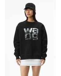 Alexander Wang Graphic Crewneck Sweatshirt - Black