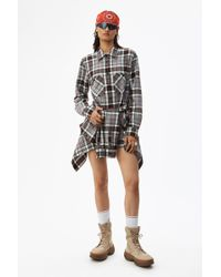 Alexander Wang - Tie Front Shirt Dress - Lyst