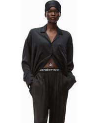 Alexander Wang Embroidered Pyjama Shirt - Black