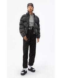 Alexander Wang Acid Wash Puffer Jacket - Grey