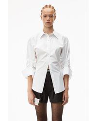 Alexander Wang Cinched Button Down Shirt - White