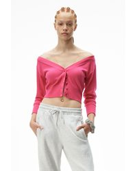 Alexander Wang Fitted Cropped Cardigan - Multicolour