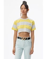 Alexander Wang Wash + Go Striped Cropped Top - Yellow