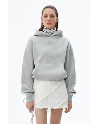 Alexander Wang Heavy French Terry Hoodie - Gray