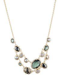 Alexis Bittar Georgian Multi Stone Double Strand Necklace - Multicolour