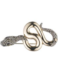 Alexis Bittar Snake Pin With Crystal Accent - Multicolour