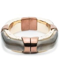 Alexis Bittar - Large Soft Square Lucite Bangle With Rocky Metal Detail You Might Also Like - Lyst