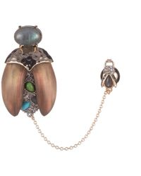 Alexis Bittar Crystal Encrusted Baby Scarab Pin - Multicolour