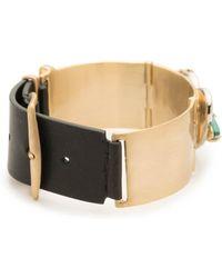 Alexis Bittar - Roxbury Cluster Leather Bracelet - Lyst