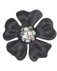 Alexis Bittar Liquid Rhodium Flower Pin - Black