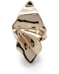 Alexis Bittar - Crumpled Gold Ring - Lyst