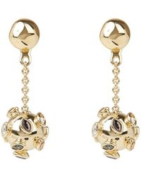 Alexis Bittar Asteria Nova Sputnik Chain Drop Earrings - Metallic