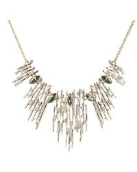 Alexis Bittar Navette Crystal Spiked Bib Necklace - Multicolour