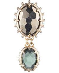 Alexis Bittar Georgian Double Stone Pin - Multicolour