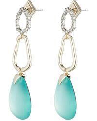 Alexis Bittar - Crystal Encrusted Organic Post Earring - Lyst