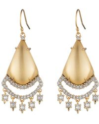 Alexis Bittar Crystal Lace Chandelier Earring You Might Also Like - Metallic