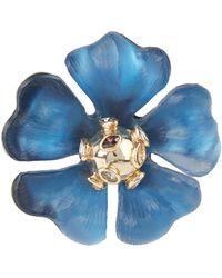 Alexis Bittar Sputnik Flower Pin - Blue