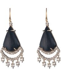Alexis Bittar Crystal Lace Chandelier Earring - Black