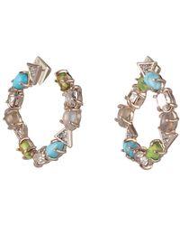 Alexis Bittar Multi-stone Coiled Post Earring - Multicolour