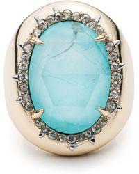 Alexis Bittar - Crystal Encrusted Stone Ring - Lyst